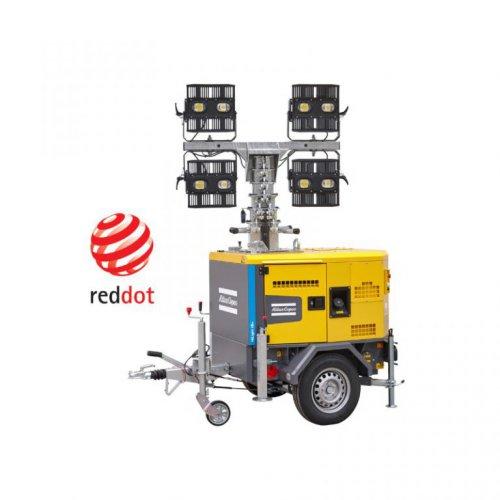 Lichtmast QLT H50 auf Anhänger